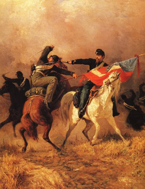 Fight For The Standard 1865 | Unknown Artist | oil painting