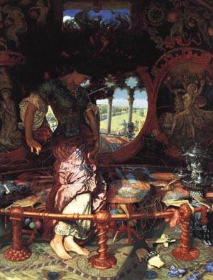 The Lady of Shalott   William Holman Hunt 1886 195   oil painting
