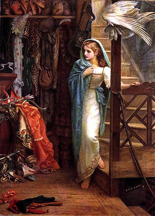 The Property Room 1878 1879 | Arthur Hughes | oil painting