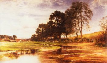 A By Mead and Stream 1893 | Benjamin Leader | oil painting
