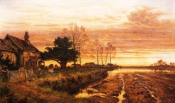 At Evening Time it Shall be Light 1897 | Benjamin Leader | oil painting