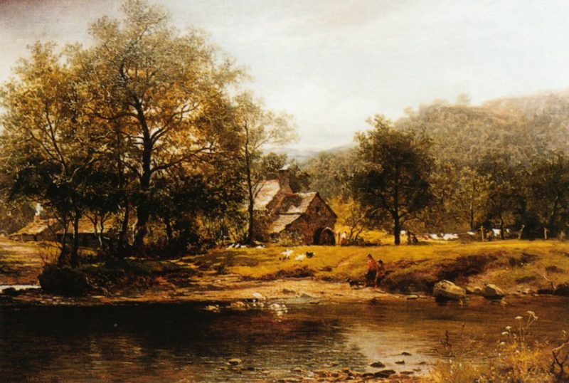 Old Mill Bettws y coed 1875 | Benjamin Leader | oil painting