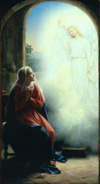 The Annunciation | Carl Heinrich Bloch | oil painting