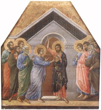 Doubting Thomas | Duccio di buoninsegna | oil painting