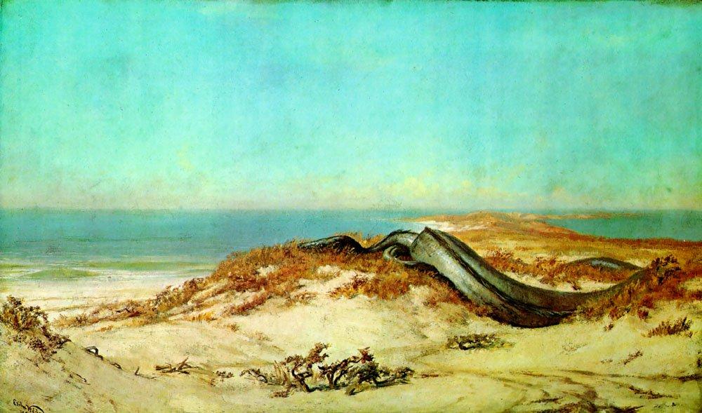 Lair of the Sea Serpent 1879 1880   Elihu Vedder   oil painting