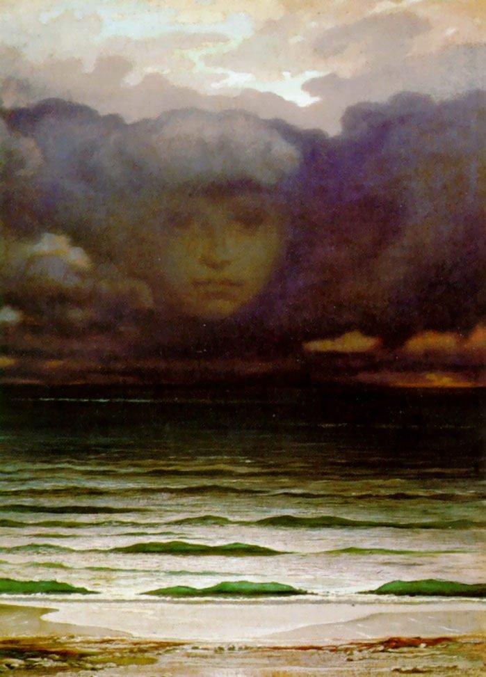 Memory 1870   Elihu Vedder   oil painting