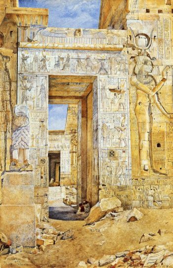 Portal of Nectanebus Philae 1894 | Henry Roderick Newman | oil painting