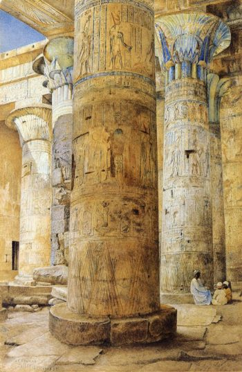 Hall of Columns Philae 1894 | Henry Roderick Newman | oil painting
