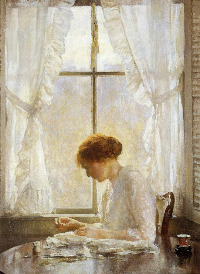 The Seamstress 1916 | Joseph deCamp | oil painting