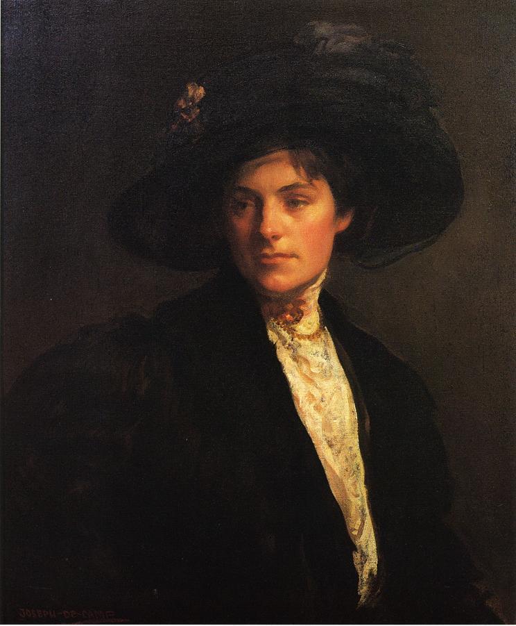 The Fur Jacket 1910 | Joseph deCamp | oil painting
