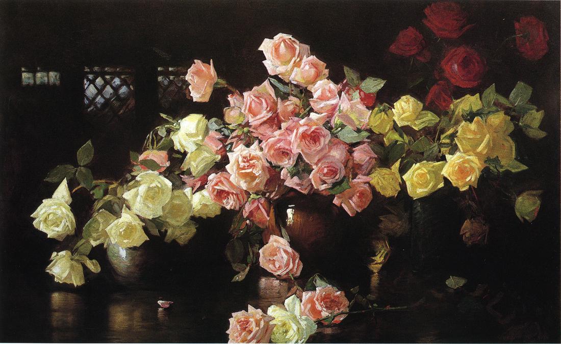 Roses 1890 1899 | Joseph deCamp | oil painting