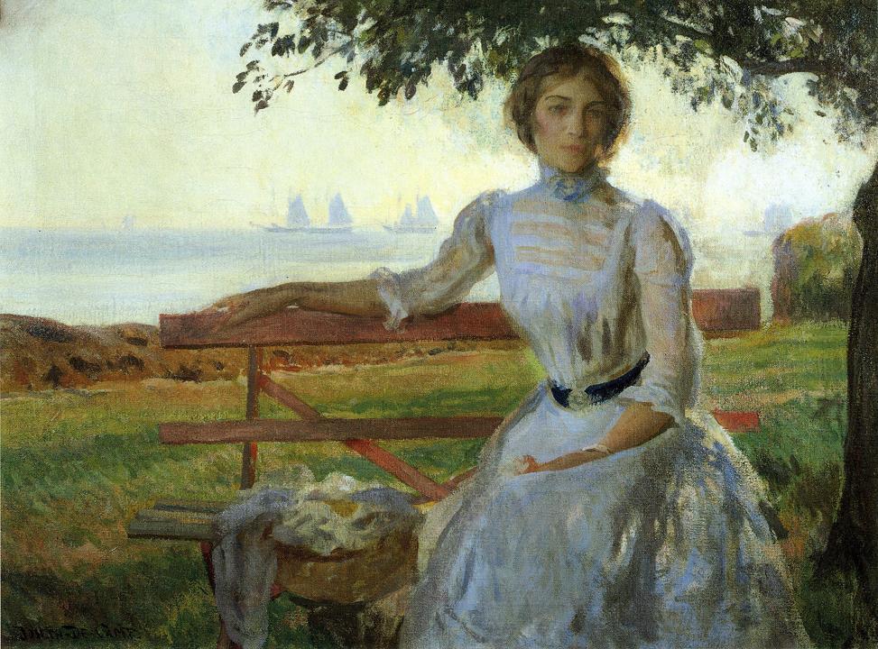 Mrs Ernest Major 1902 1903 | Joseph deCamp | oil painting
