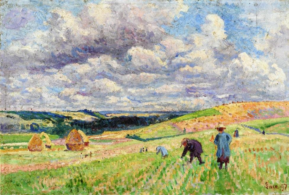 Children in the Fields 1897 | Maximilien Luce | oil painting