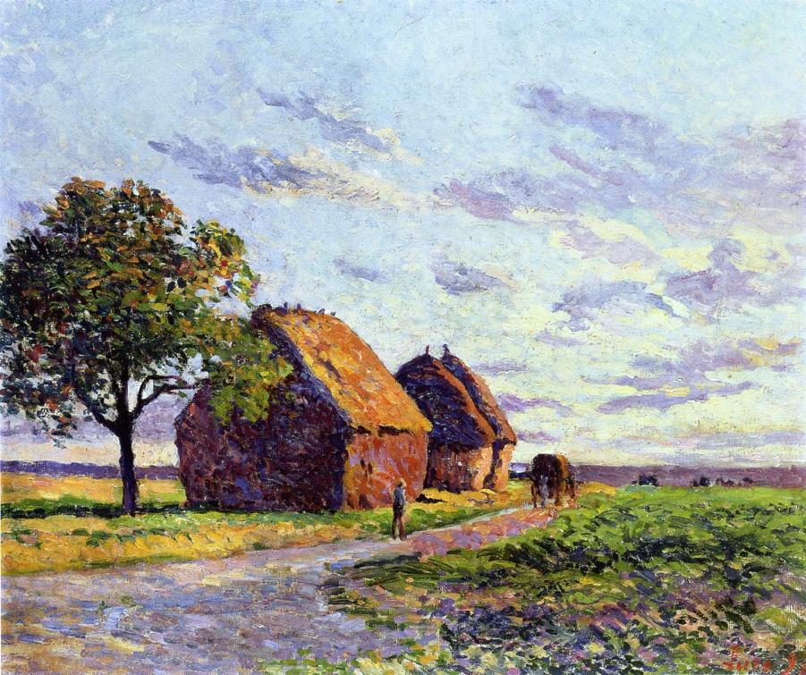 Haystacks Plaine d'Essoyes 1897 | Maximilien Luce | oil painting