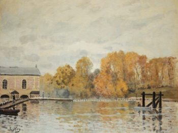 Waterworks at Marly 1876 | Alfred Sisley | oil painting