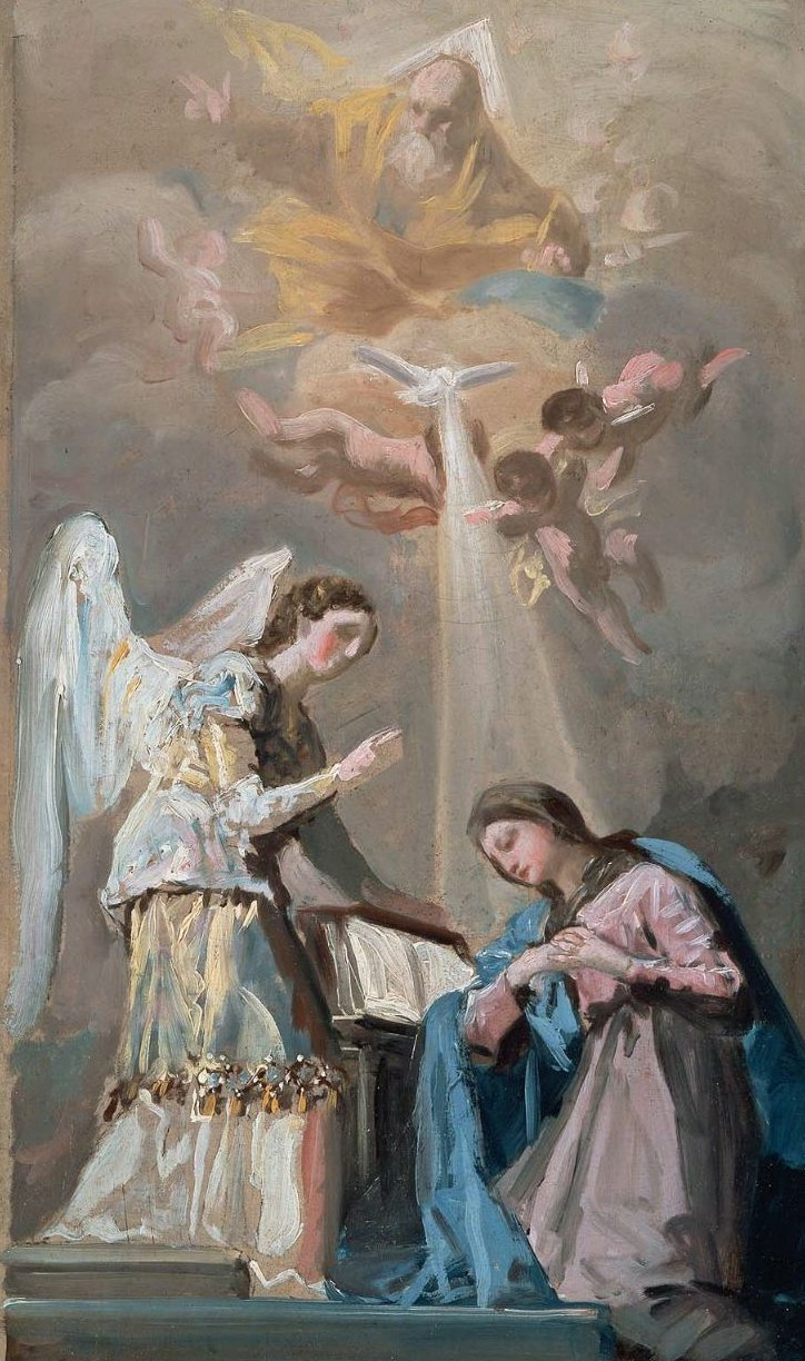 The Annunciation Painting Francisco Goya Y Lucientes Oil - Francisco goya paintings