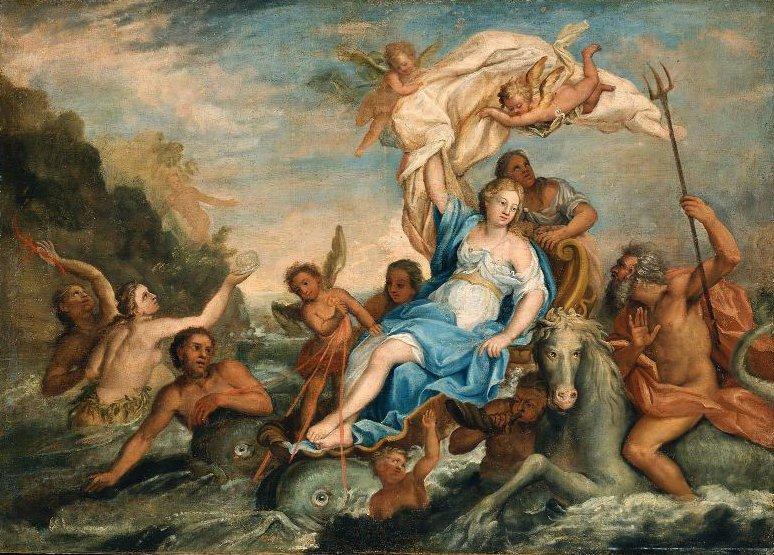 Galatea 1754   John Singleton Copley   oil painting