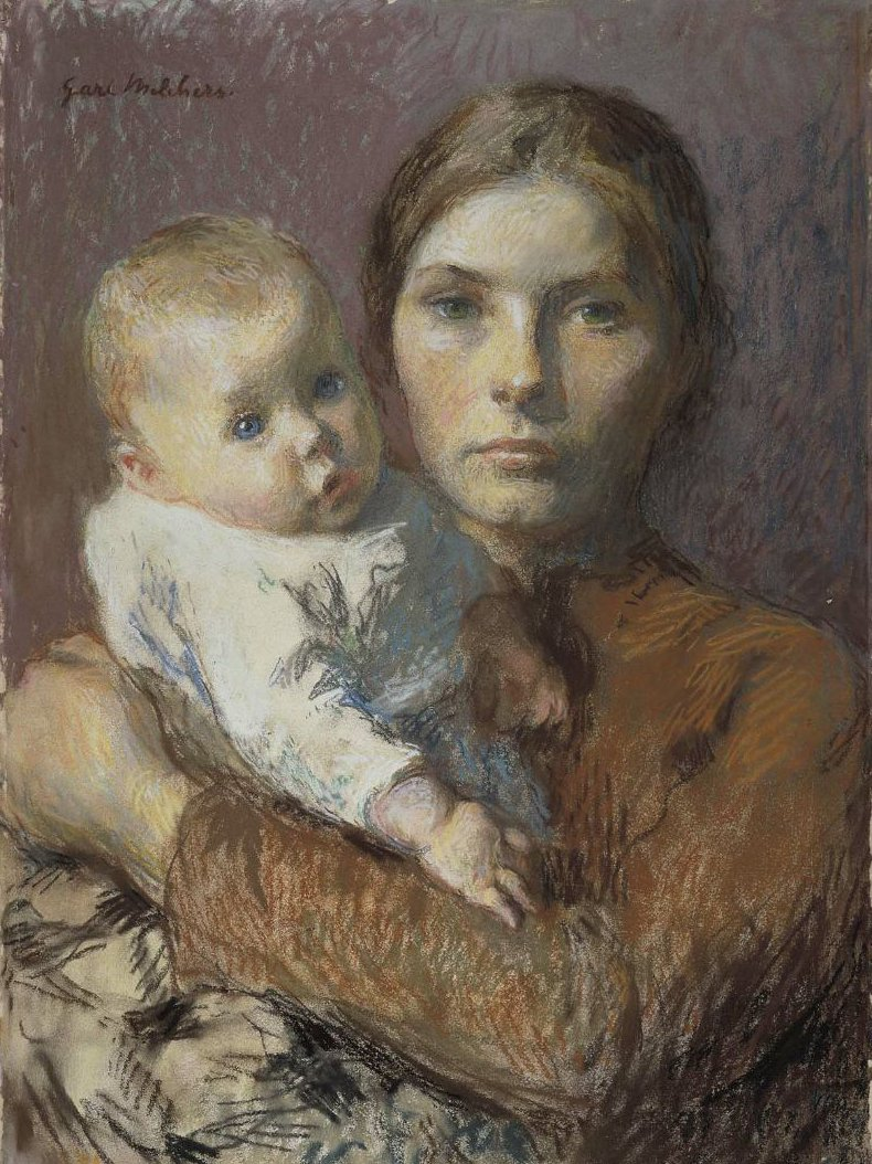 Mother and Child 1904 | Gari Melchers | oil painting