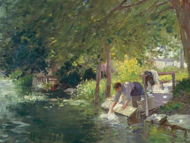 La Blanchisseuse 1890   Frederic Porter Vinton   oil painting