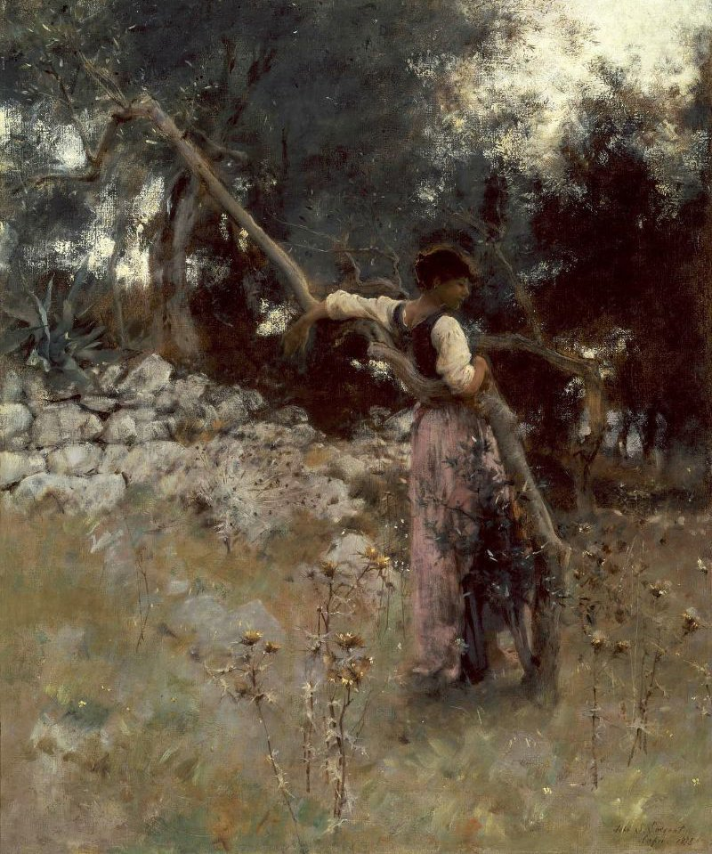 A Capriote 1878 | John Singer Sargent | oil painting