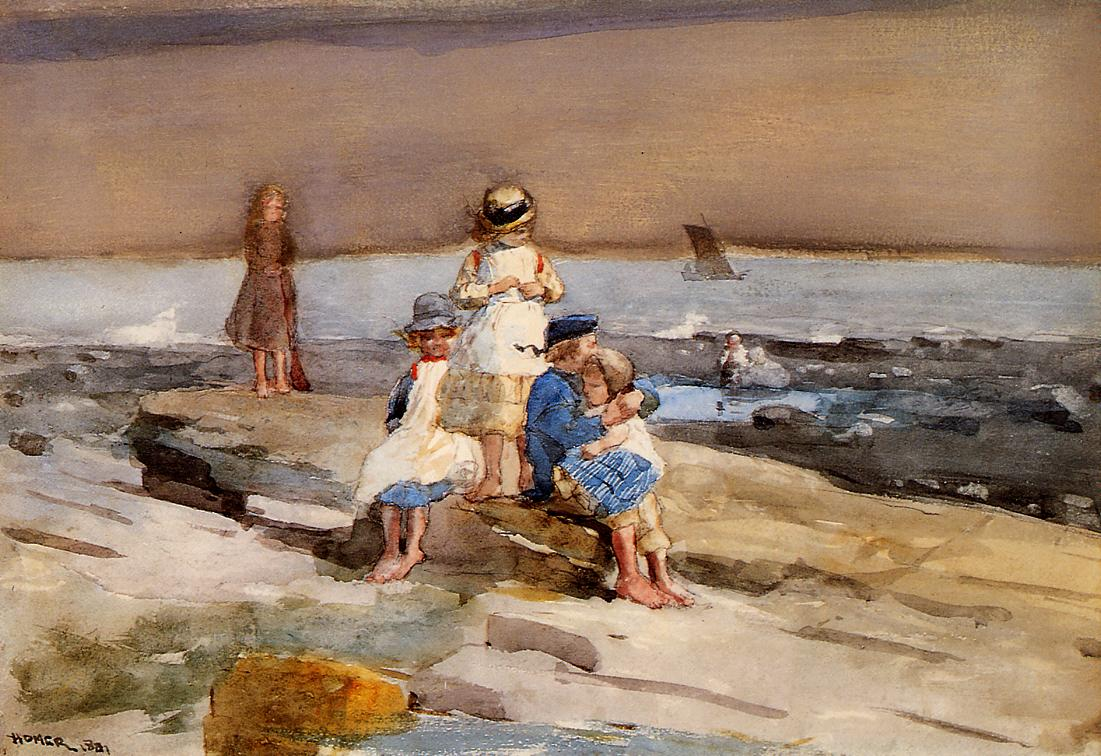 Children on the Beach | Winslow Homer | oil painting