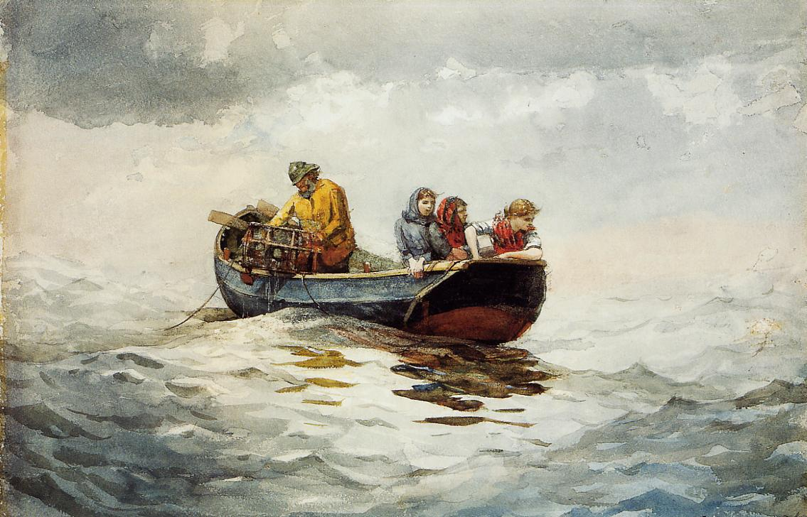 Crab Fishing | Winslow Homer | oil painting