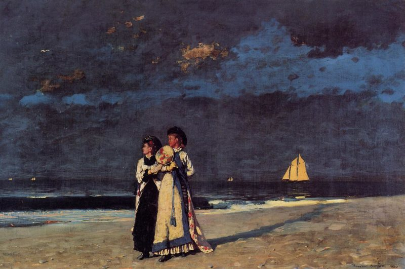 Promenade on the Beach   Winslow Homer   oil painting