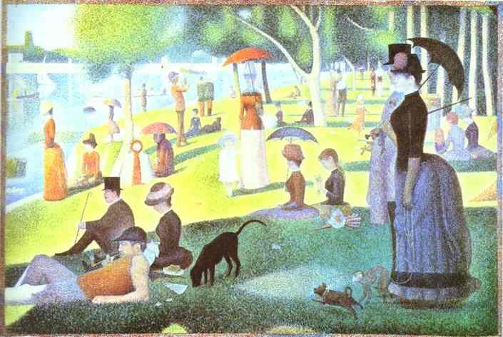 A Sunday On La Grande Jatte 1884-86 | Georges Seurat | oil painting