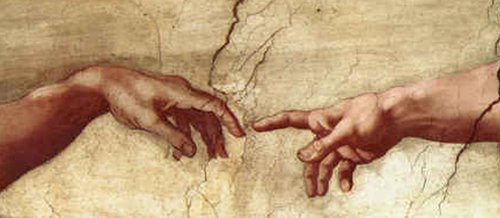 Creation of Adam Hands only | Michaelangelo | oil painting