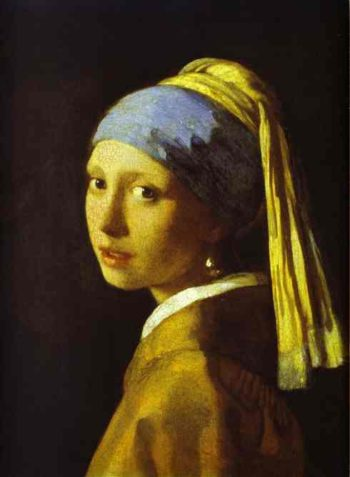 Girl With A Pearl Earring 1665 | Jan Vermeer | oil painting