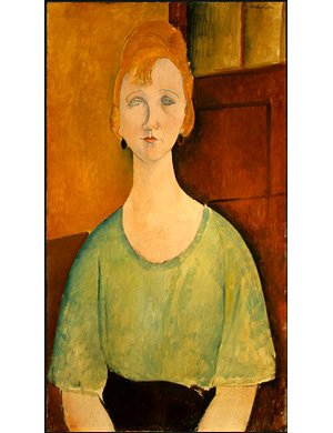 Girl in Green Blouse | Amedeo Modigliani | oil painting