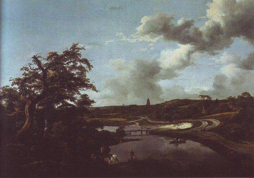 Banks of a river | Jacob Van Ruisdael | oil painting