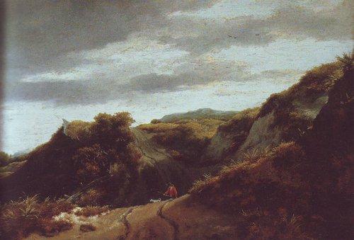Dunes   Jacob Van Ruisdael   oil painting