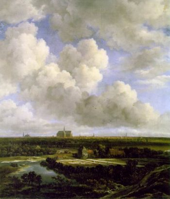 View of Haarlem with Bleaching Grounds ca 1665 | Jacob Van Ruisdael | oil painting