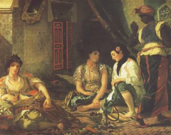 Algerian Women In Their Apartments | Eugene Delacroix | oil painting