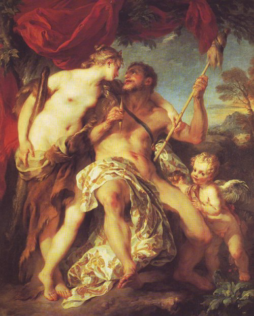 Hercules And Omphale   Francois Lemoyne   oil painting