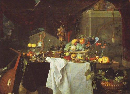 A Dessert | Jan Davidz De Heem | oil painting