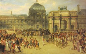 A Review Day Under the Empire | Joseph-Louis-Hippolyte Bellange | oil painting