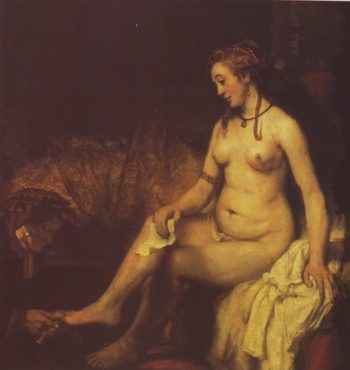 Bathsheba At Her Bath | Rembrandt | oil painting