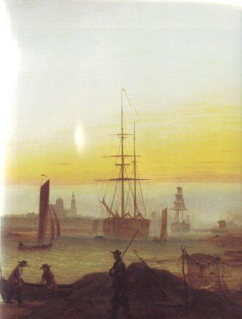 Greifswald Harbor | Caspar David Friedrich | oil painting