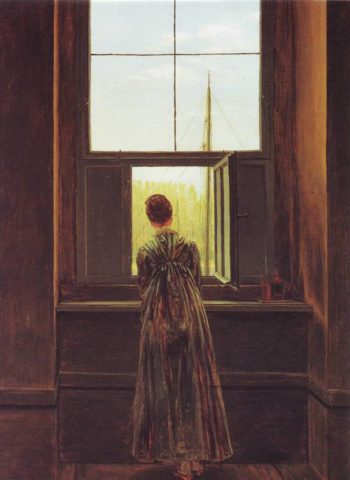 The Woman At The Window | Caspar David Friedrich | oil painting
