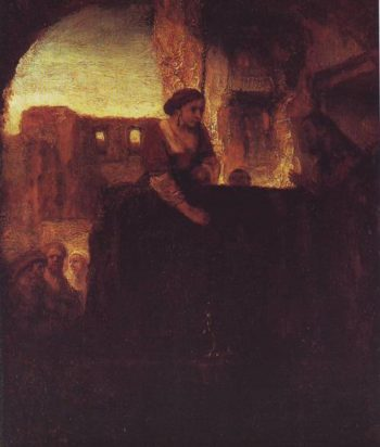 Christ And The Woman Of Samaria | Rembrandt | oil painting