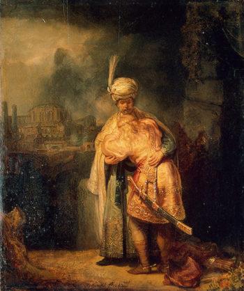 David and Jonathan 1642   Rembrandt Harmensz van Rijn   oil painting
