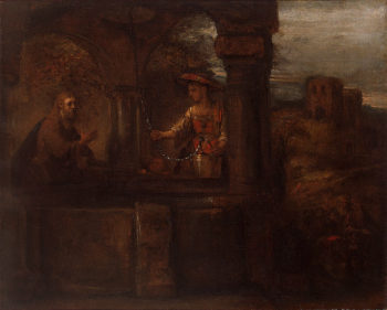 Christ and the Woman of Samaria 1659 | Rembrandt Harmensz van Rijn | oil painting