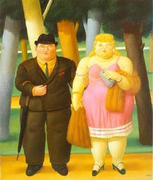 A Couple 1999 | Fernando Botero | oil painting