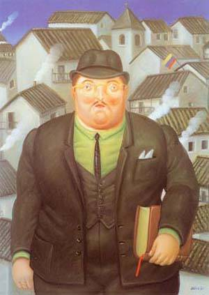 A Lawyer 1995 | Fernando Botero | oil painting