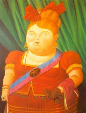 The First Lady 1997 | Fernando Botero | oil painting