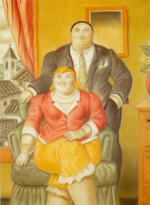 A Couple 1995- | Fernando Botero | oil painting