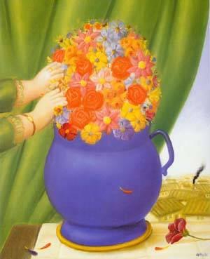 Flowers 1994 | Fernando Botero | oil painting
