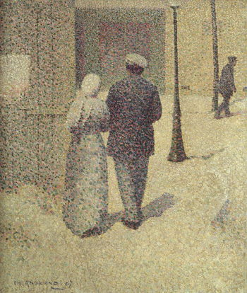 A Couple in the Street 1887 | Charles Angrand | oil painting